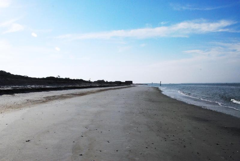 A view down the beach toward Fort Clinch