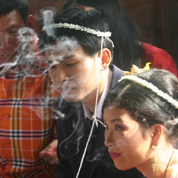 A Thai village wedding