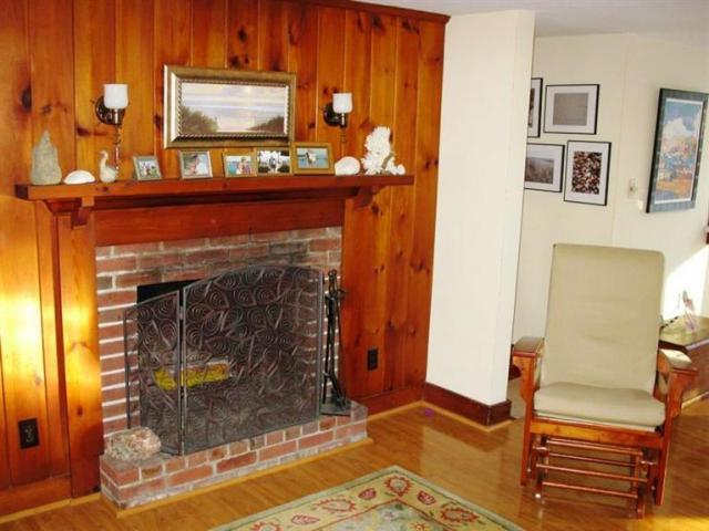 Gas fireplace for getting cozy on those cooler nights