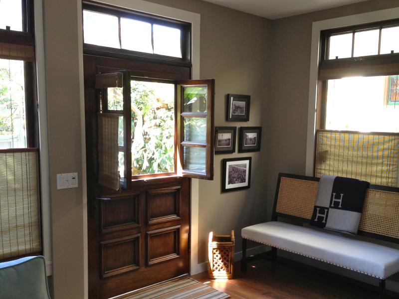 Foyer.  Dutch door brings the outdoors in.