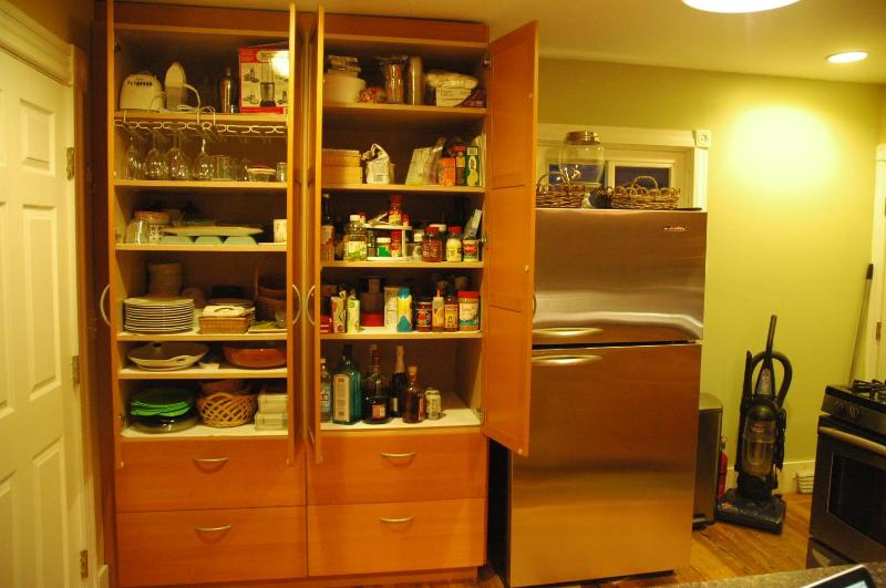 Kitchen pantry (lots of table wear and supplies)