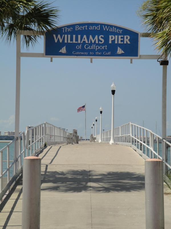 Gulfport's fishing pier on Boca Ciega Bay