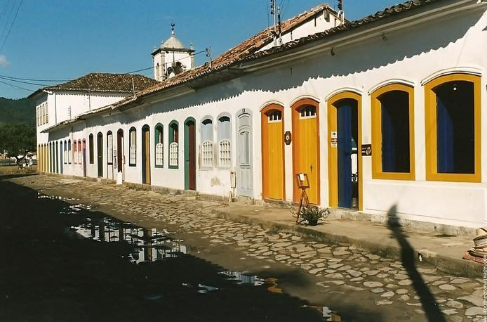 One of the cobblestone streets of Paraty and all its charm!