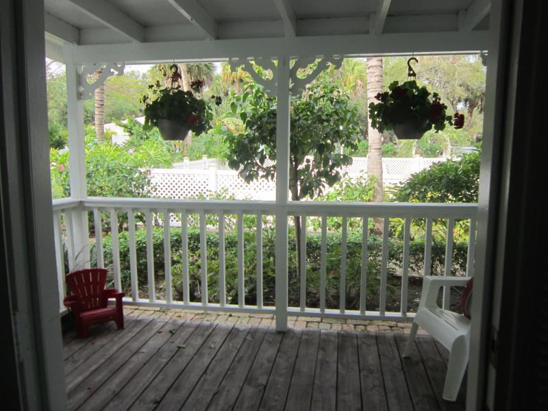 Vista del portico da cottage