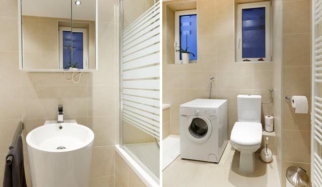 Un cuarto de baño limpio agradable
