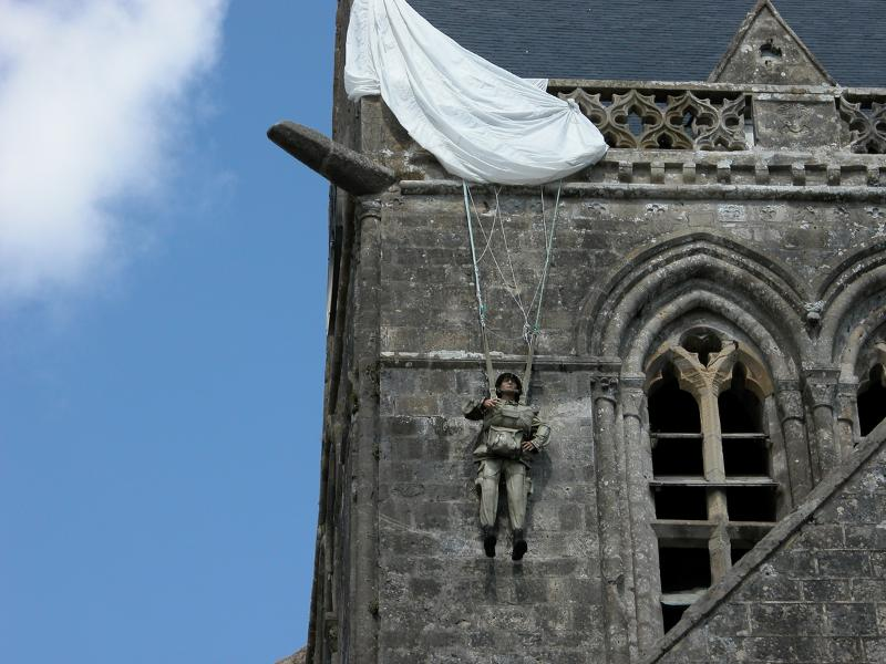 D Day Paratrooper at Sainte Mere Eglise - Explore the landing beaches from Le Clos.