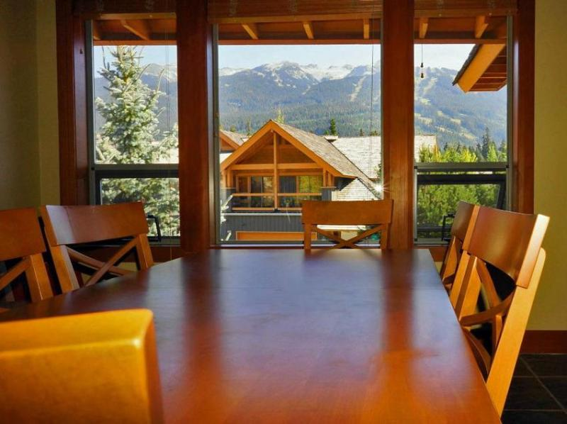 View to Blackcomb Mountain from Dining area - Table expands to seat 8 people