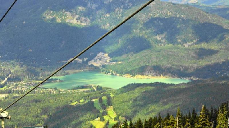 Green Lake in Summer from Whistler Peak chairlift