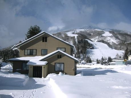 Happo One ski field behind house