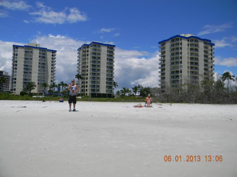 The beach in front of Estero Beach and Tennis