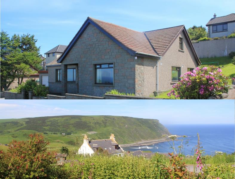 Crow's Nest is a large house with spectacular sea views., vacation rental in Macduff