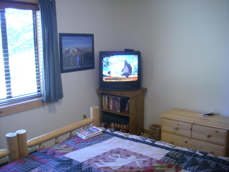 Bedroom 4 has a tv vcr with a library of childrens features