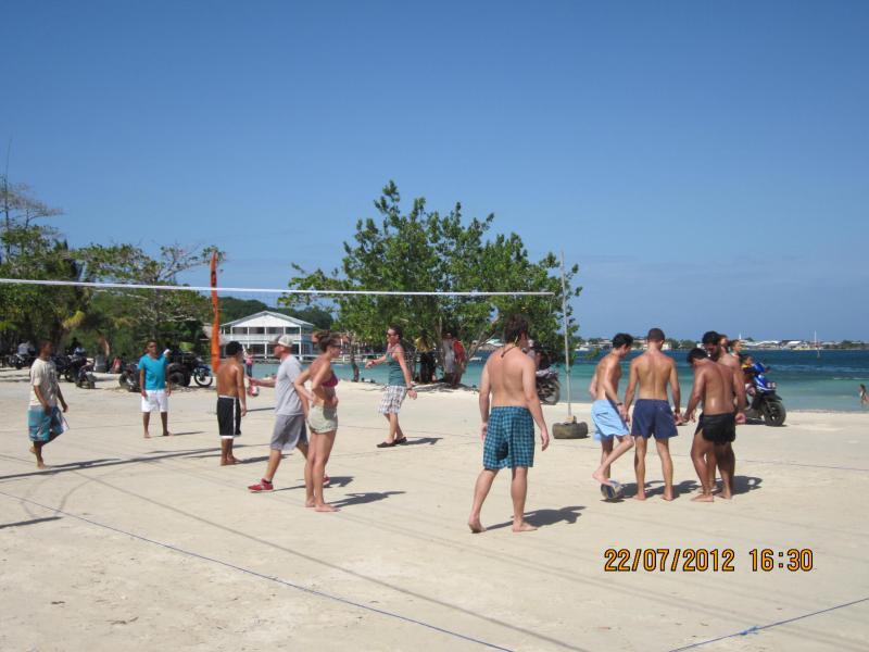 Active life on beach