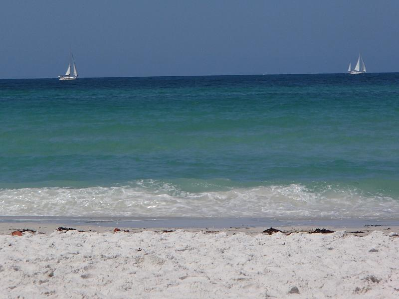 Beautiful soft white sand and clear warm water