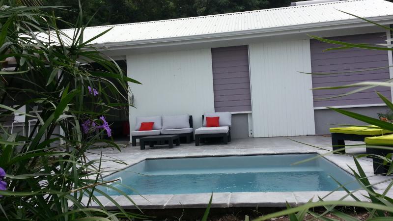 Terrasse avec piscine privative