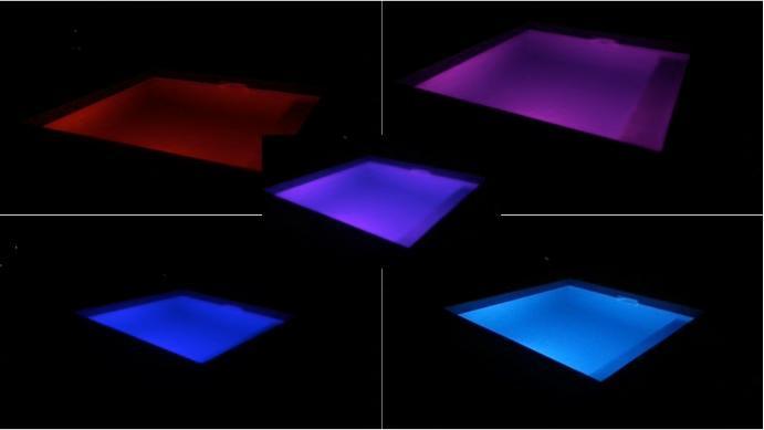 Spot LED couleurs piscine