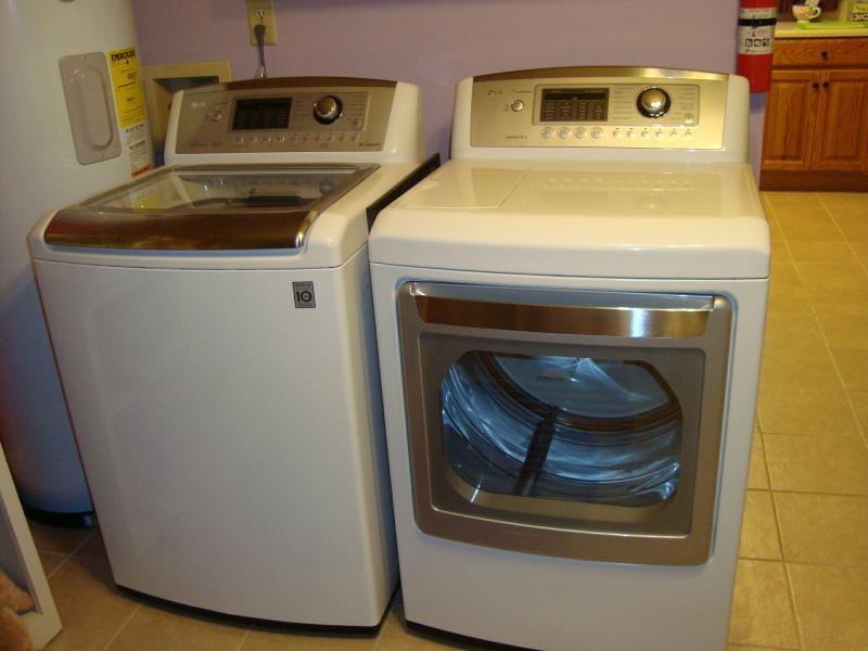 Teck alto último LG secadora lavadora & con gran capacidad; hay agitador centro daño ropa
