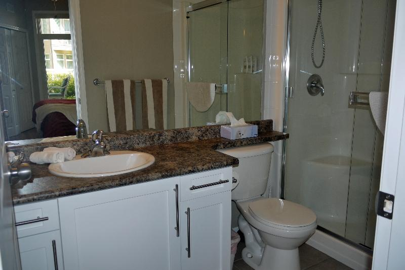 Ensuite bathroom with glassed shower