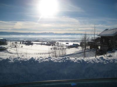 Une vue de la vallée de Gallatin