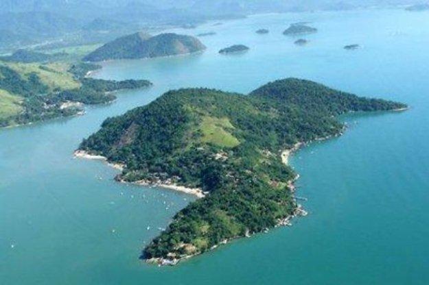 Imagem Aerea da Ilha do Araújo