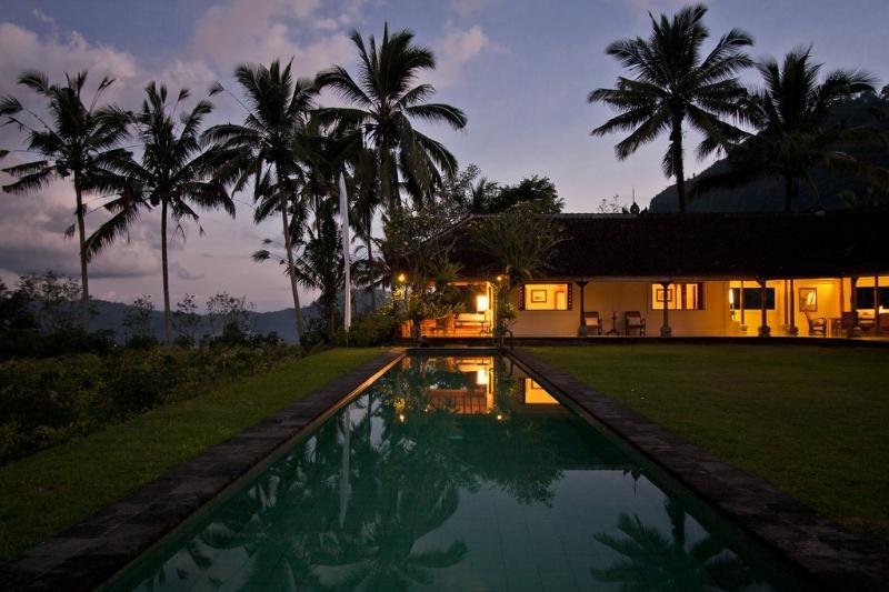Villa Idanna durante la puesta del sol