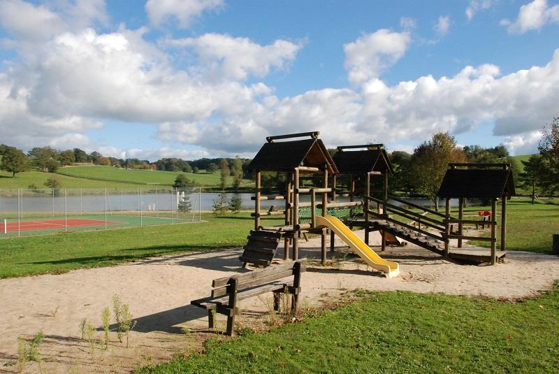 play area near the lake