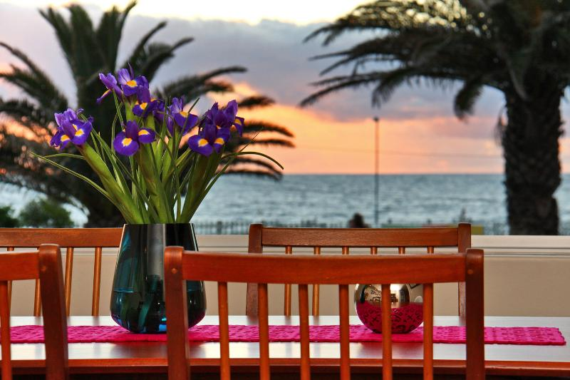 Dine on your seafront terrace