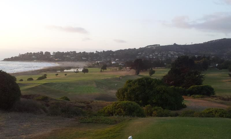 Sunset surf golf and Cachagua from hole 9