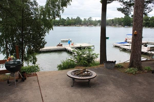 Firepit and lake front