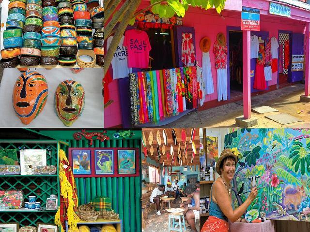 Beautiful Art and Craft stores and Boutiques on our Little Island.