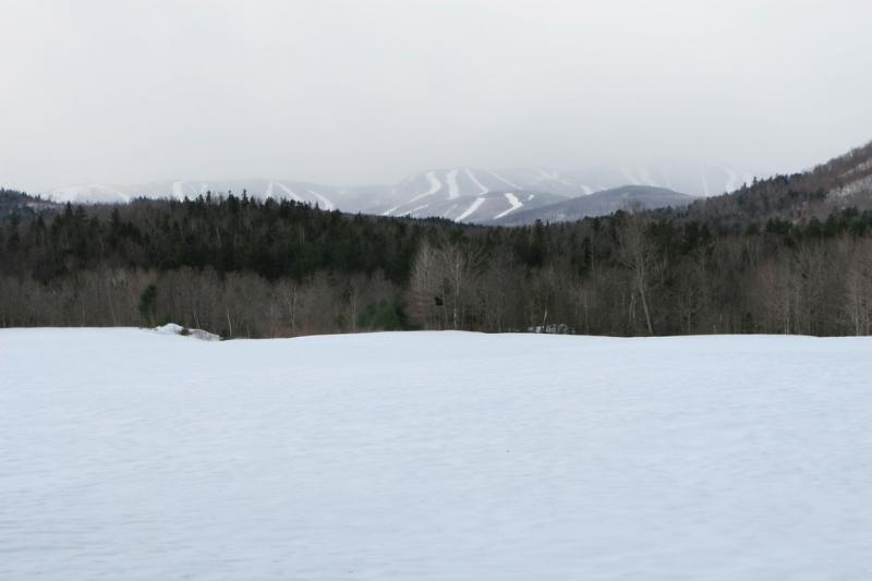 Across the road and towards Sunday River (less than ten minutes away)