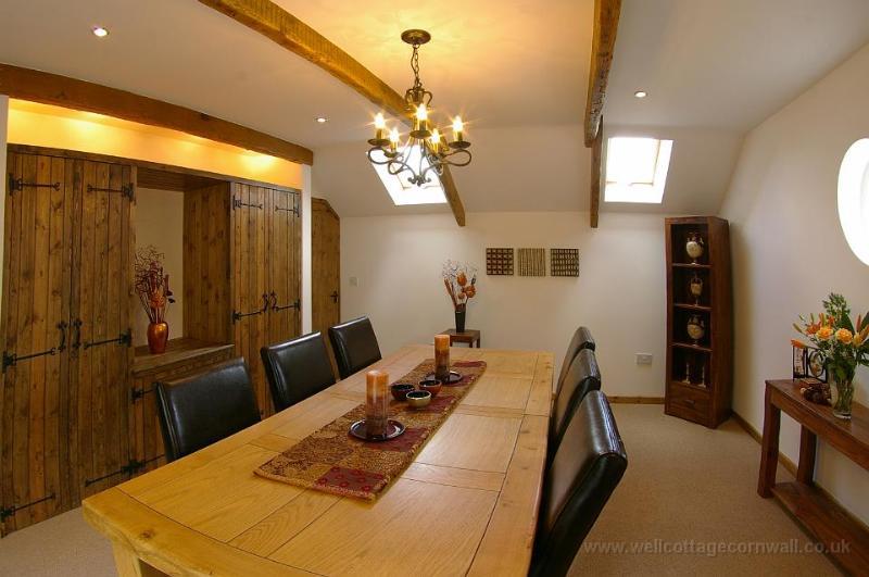 sala de jantar bem Cottage Cornwall