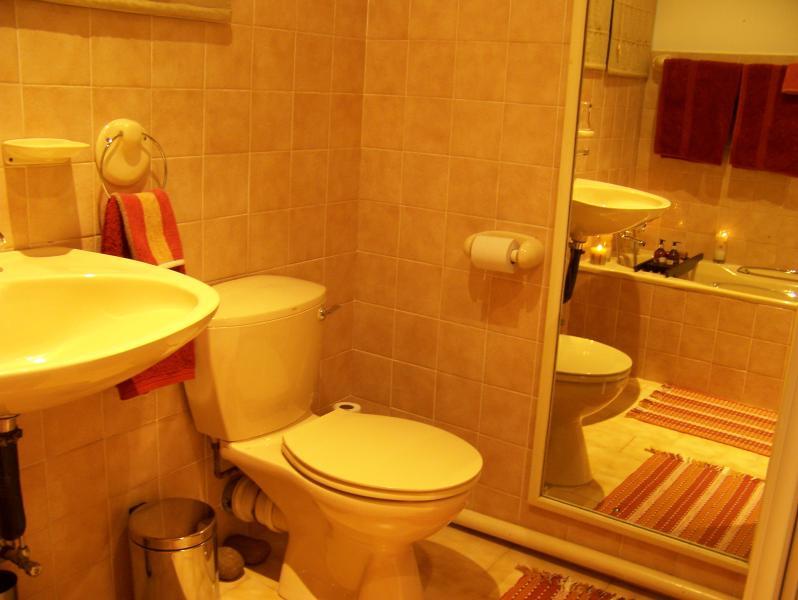 Vista cuarto de baño completo de bañera