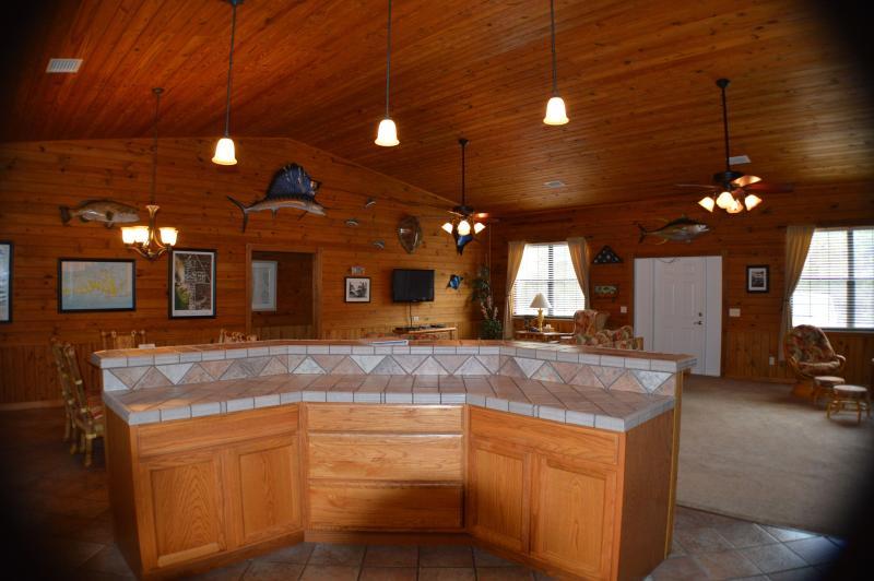 Centro della casa, vita, famiglia, sala da pranzo e cucina
