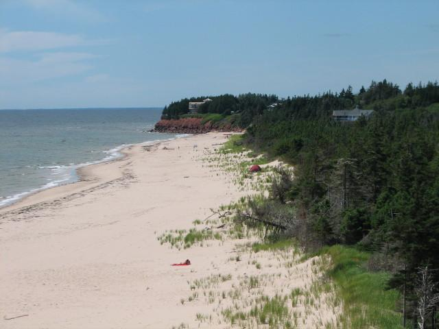White Sand and Red Cliffs