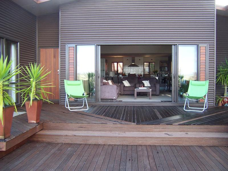 Dine Alfresco on the fabulous deck