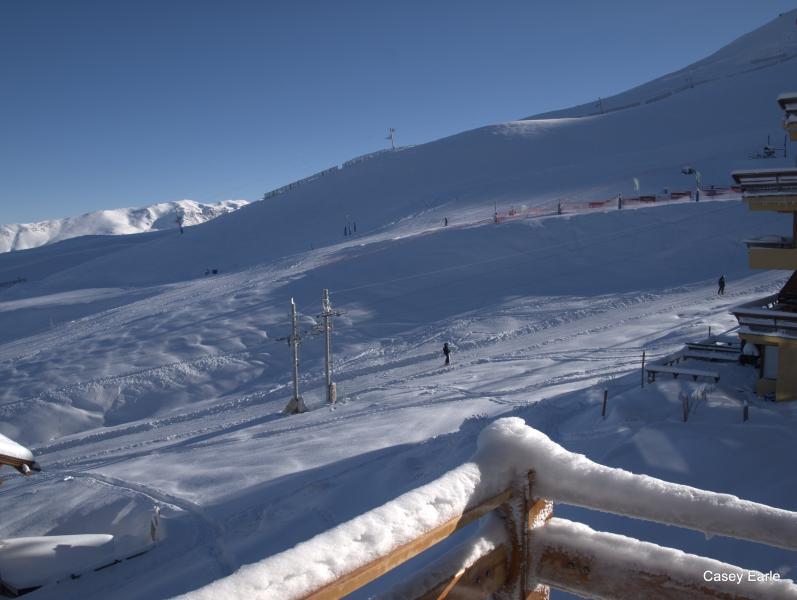 View from balcony, powder day!