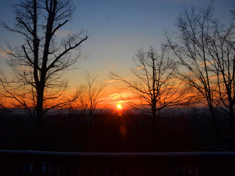 Beautiful sunrises from all four decks and every room in the house.