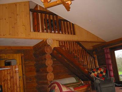 stairs leading to loft bedroom from lounge