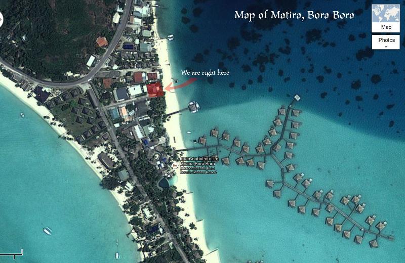 Location of House in Bora Bora