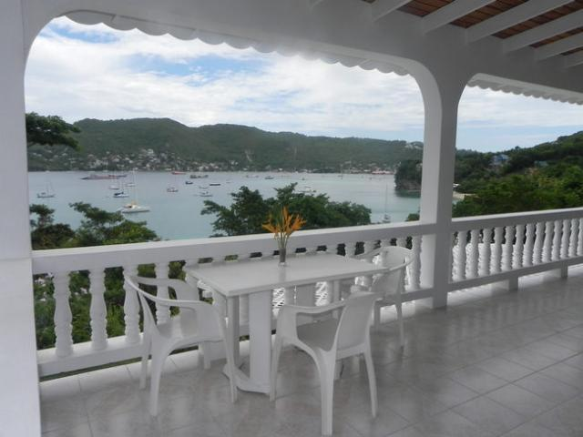 Large porch area over looking Princess Margret Beach and Admiralty Bay