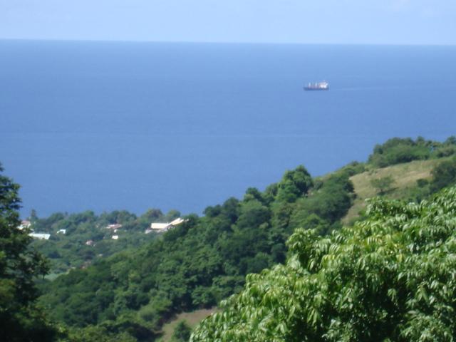 Vue de la terrasse sur la mer des Caraïbes