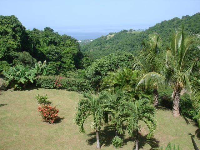 Vue sur le parc et la mer des Caraïbes