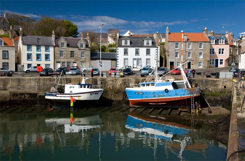 Pittenweem Harbour and fishing boats
