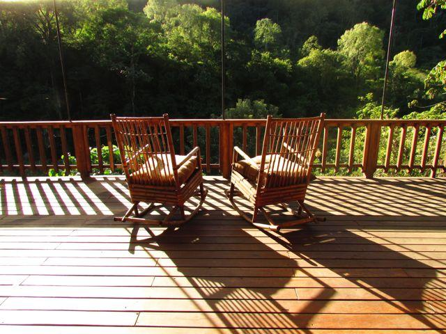 Terrace with a view of primary rainforest