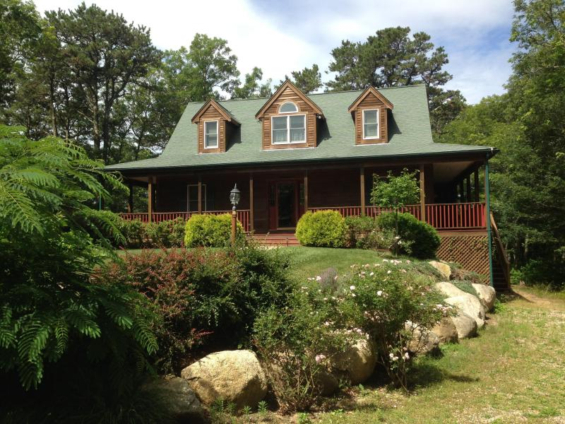 Serene spacious Cape house with a wrap around porch and central AC, custom built in 2000