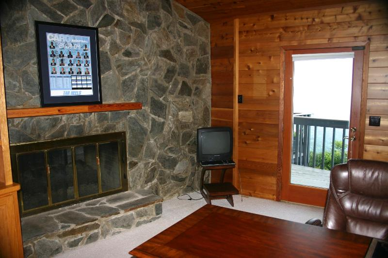 Office and Shared Fireplace
