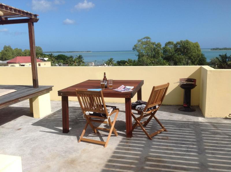 Comedor & barbacoa en la terraza compartida