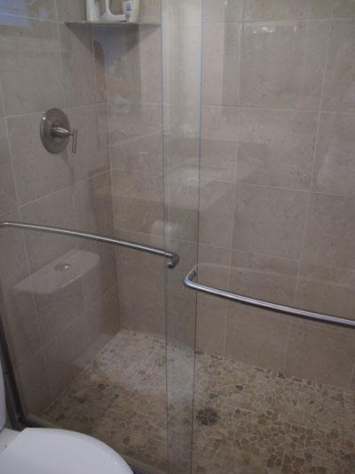 Updated large shower in ensuite bath