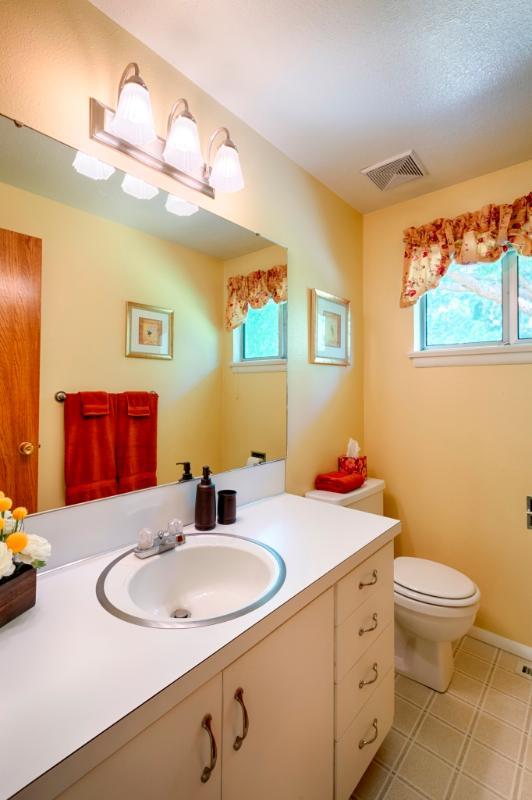 Second (half) bathroom off den